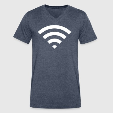 Signal - Men's V-Neck T-Shirt by Canvas