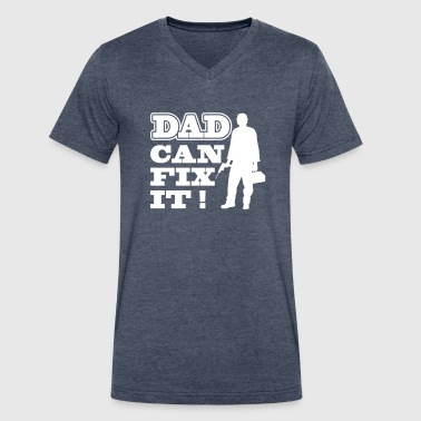 Dad Can Fix It - Men's V-Neck T-Shirt by Canvas
