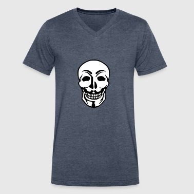 Anonymous and skull pirate symbol - Men's V-Neck T-Shirt by Canvas