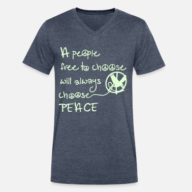 Choose Peace choose peace - Men's V-Neck T-Shirt by Canvas
