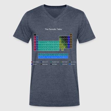 Blue Stylish Periodic Table of Elements - Men's V-Neck T-Shirt by Canvas