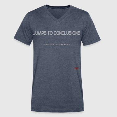 Jumps to Conclusions - Men's V-Neck T-Shirt by Canvas