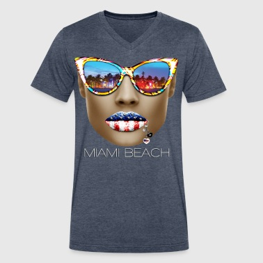 miami - Men's V-Neck T-Shirt by Canvas