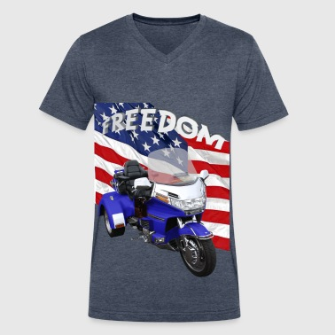 Trike Freedom - Men's V-Neck T-Shirt by Canvas