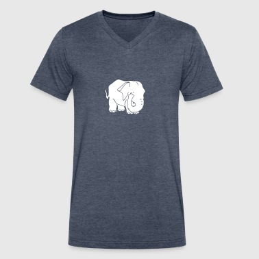 Elephant Pictogram bulky elephant - Men's V-Neck T-Shirt by Canvas