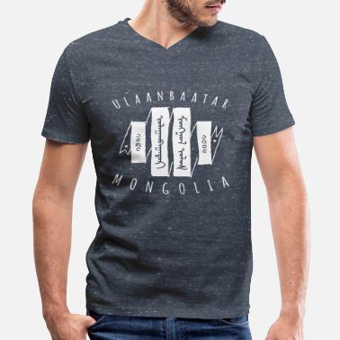 Mongolia Ulaanbaatar - Men's V-Neck T-Shirt by Canvas