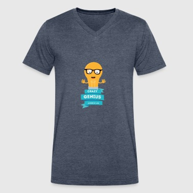 crazy Genius mother in law - Men's V-Neck T-Shirt by Canvas