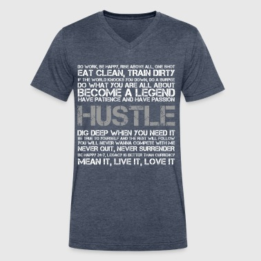 HUSTLE - DISTORTED - Men's V-Neck T-Shirt by Canvas