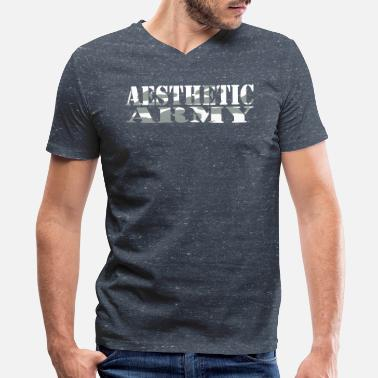 Aesthetics Fitness Aesthetic Army - Men's V-Neck T-Shirt by Canvas