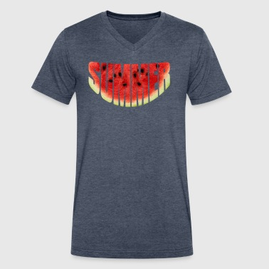 Summer watermelon - Men's V-Neck T-Shirt by Canvas