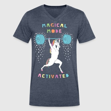 Magical Mode Unicorn - Men's V-Neck T-Shirt by Canvas