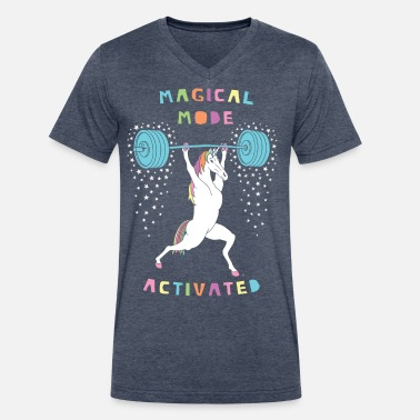 Magical Mode Unicorn Magical Mode Unicorn - Men's V-Neck T-Shirt by Canvas