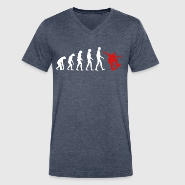 Skater Evolution - Skate - Skateboarder-Sport Gift - Men's V-Neck T-Shirt by Canvas
