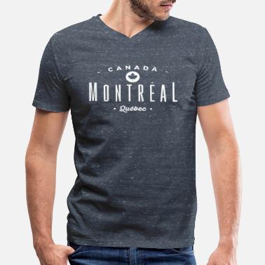 Quebec Montréal - Men's V-Neck T-Shirt by Canvas