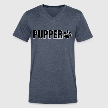 Gay Paw Print Pup Play Puppy Play - Men's V-Neck T-Shirt by Canvas