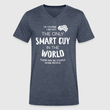 The Only Smart Guy - Men's V-Neck T-Shirt by Canvas