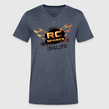 Radio Control Hobby - RC Sparks Studio - Men's V-Neck T-Shirt by Canvas