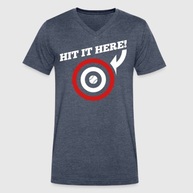 Hit it Here! (Chicago, Texas) - Men's V-Neck T-Shirt by Canvas