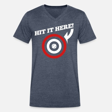 Hit It Here Hit it Here! (Chicago, Texas) - Men's V-Neck T-Shirt by Canvas