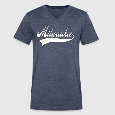 Milwaukee Basketball milwaukee white - Men's V-Neck T-Shirt by Canvas