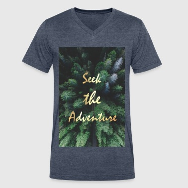 Seek the Adventure - Men's V-Neck T-Shirt by Canvas