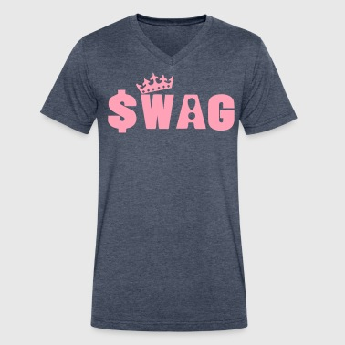 SWAG KING - Men's V-Neck T-Shirt by Canvas