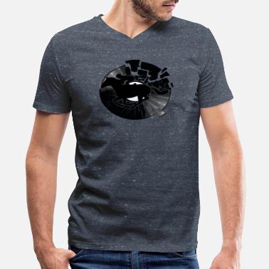 Vinyl Disc Jockey - Men's V-Neck T-Shirt