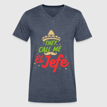 Employment Office El Jefe Proud Boss Employer Employees Work Office - Men's V-Neck T-Shirt by Canvas