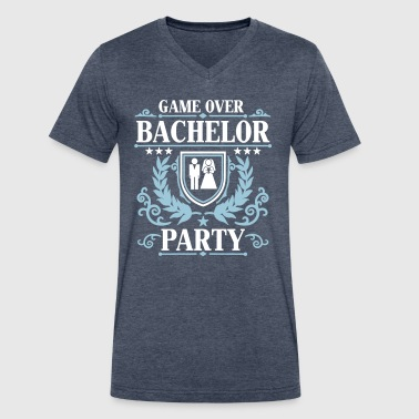 Gameover Bachelor Party - Men's V-Neck T-Shirt by Canvas