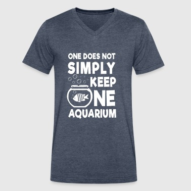 One does not simply keep one Aquarium - Men's V-Neck T-Shirt by Canvas