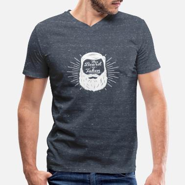 Fuck Masculinity This beard is taken - masculine valentine gift - Men's V-Neck T-Shirt by Canvas