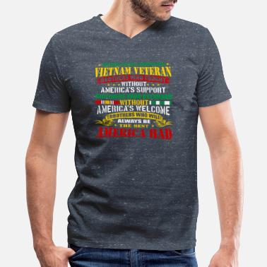 Vietnam Proud Vietnam Veteran America Vietnam War Veterans - Men's V-Neck T-Shirt by Canvas
