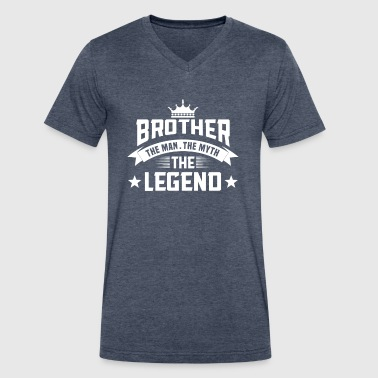 Brother legend white Spre - Men's V-Neck T-Shirt by Canvas