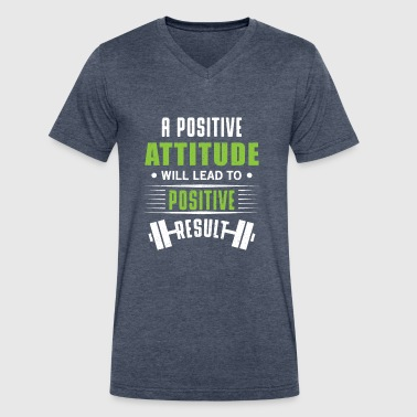 Positive attitude - Men's V-Neck T-Shirt by Canvas