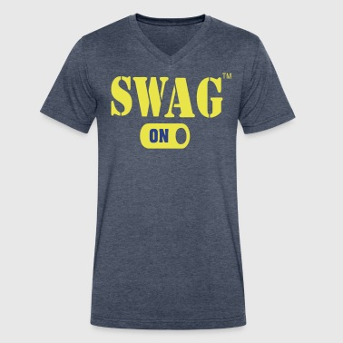 Korean Swag SWAG ON - Men's V-Neck T-Shirt by Canvas