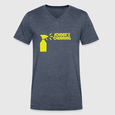Joiner's Cleaning [Logo] - Men's V-Neck T-Shirt by Canvas