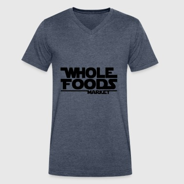 WHOLE_FOODS_STAR_WARS - Men's V-Neck T-Shirt by Canvas