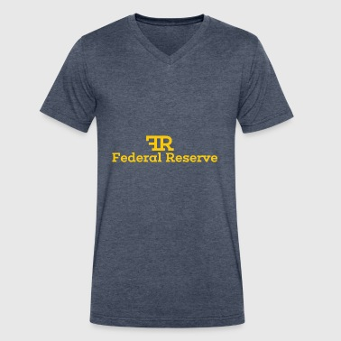 Federal Reserve Federal Reserve - Men's V-Neck T-Shirt by Canvas