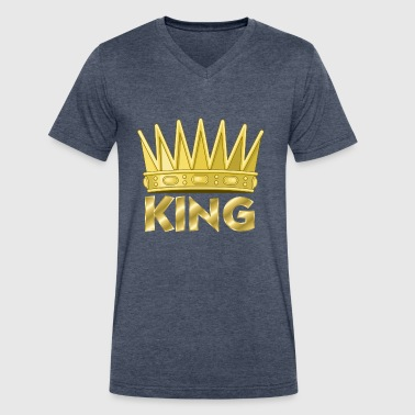 Kingly - Men's V-Neck T-Shirt by Canvas