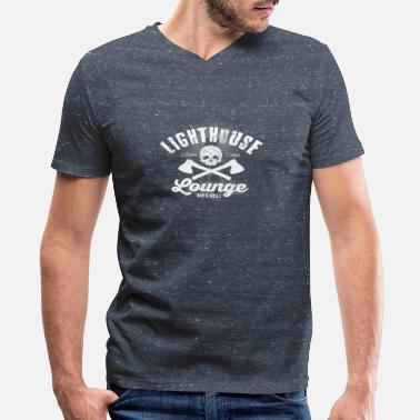 Lounge Lighthouse Lounge - Men's V-Neck T-Shirt by Canvas