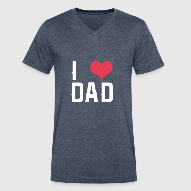 I love dad - Men's V-Neck T-Shirt by Canvas