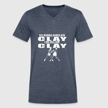 CALL_HIM_CLAY - Men's V-Neck T-Shirt by Canvas