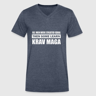 krav maga design - Men's V-Neck T-Shirt by Canvas