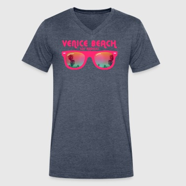 Venice beach los angeles - Men's V-Neck T-Shirt by Canvas