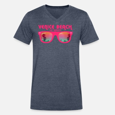 Venice Venice beach los angeles - Men's V-Neck T-Shirt by Canvas