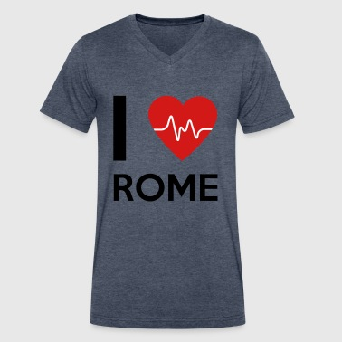 I Love Rome - Men's V-Neck T-Shirt by Canvas