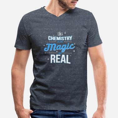 Magic Geek Chemistry Chemist Science Lover Geek Nerd Magic - Men's V-Neck T-Shirt by Canvas