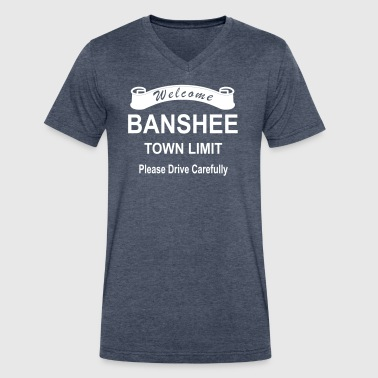 Banshee roadsign - Men's V-Neck T-Shirt by Canvas