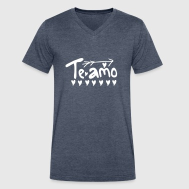 Tes te amo - Men's V-Neck T-Shirt by Canvas