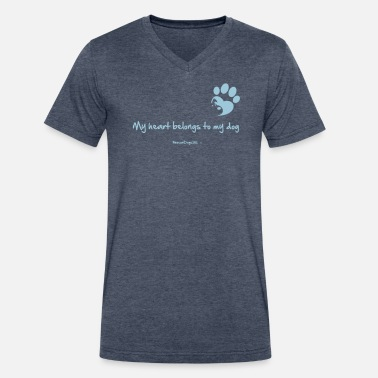 Dog Training RescueDogs101 My heart belongs to my dog - Men's V-Neck T-Shirt by Canvas